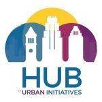 hub for Urban Initiatives Logo - a city skyline